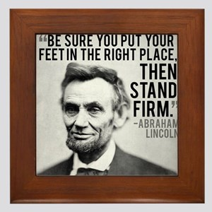 Abe Lincoln Stand Firm Framed Tile
