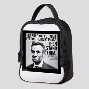 Abe Lincoln Stand Firm Neoprene Lunch Bag