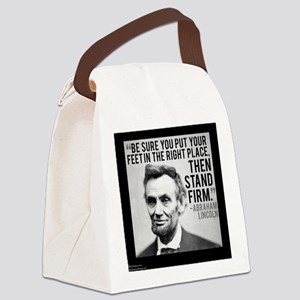 Abe Lincoln Stand Firm Canvas Lunch Bag