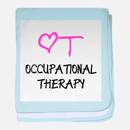 OT Heart Occupational Therapy baby blanket