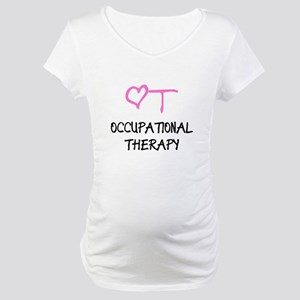 OT Heart Occupational Therapy Maternity T-Shirt