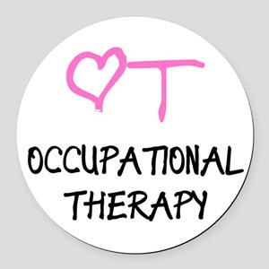 OT Heart Occupational Therapy Round Car Magnet