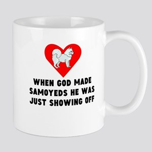 When God Made Samoyeds Mugs