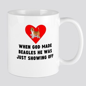 When God Made Beagles Mugs