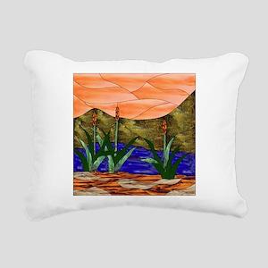 Marsh Scene Rectangular Canvas Pillow
