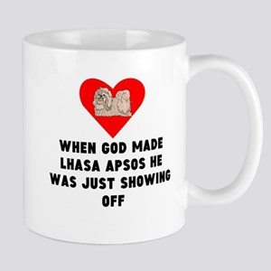 When God Made Lhasa Apsos Mugs