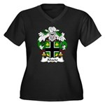 Abaeto Family Crest Women's Plus Size V-Neck Dark