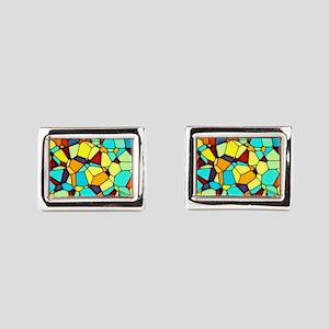 Mosaic Rectangular Cufflinks