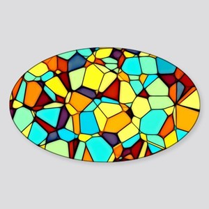 Mosaic Sticker (Oval)