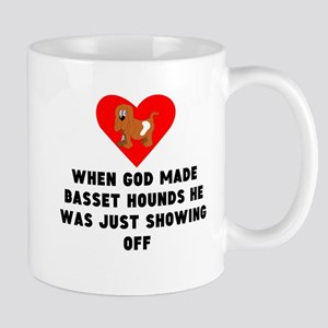 When God Made Basset Hounds Mugs