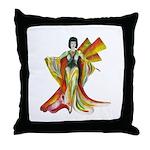 Fashion illustration Vintage style Throw Pillow