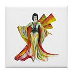 Fashion Illustration Vintage Style Tile Coaster