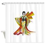 Fashion illustration Vintage style Shower Curtain