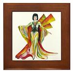 Fashion illustration Vintage style Framed Tile
