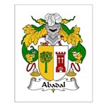 Abadal Family Crest Small Poster