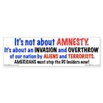 Stop The Invasion Bumper Sticker