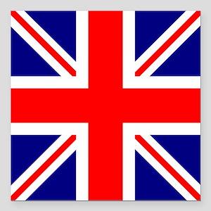 """Square British Flag Square Car Magnet 3"""" x 3"""""""