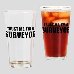Trust Me, I'm A Surveyor Drinking Glass