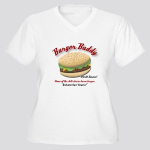 Burger Buddy Women's Plus Size V-Neck T-Shirt