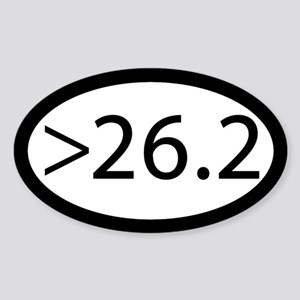 Ultra Marathon Post 26.2 Sticker (oval)