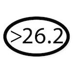 Ultra Marathon Post 26.2 Sticker (oval)