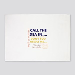 SEND THE DEA IN YOUR CROOKED BANK.. 5'x7'Area Rug