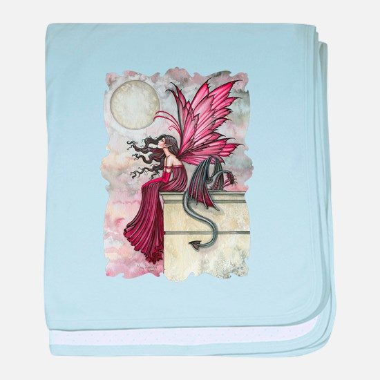 Restless Ruby Fairy and Dragon Fantas baby blanket