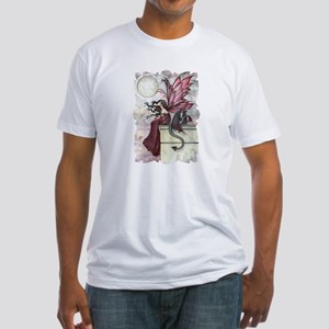 Fairy and Dragon Fantasy Art by Molly Harr T-Shirt
