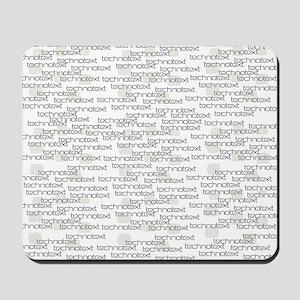 Technotext Techno Cool Black Text Logo Mousepad