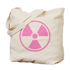 Pink Radioactive Symbol Tote Bag