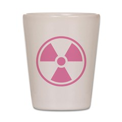Pink Radioactive Symbol Shot Glass