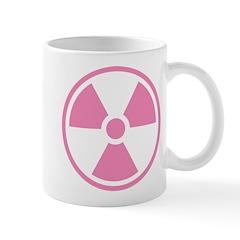 Pink Radioactive Symbol Mugs