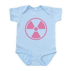 Pink Radioactive Symbol Body Suit