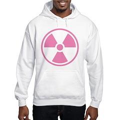 Pink Radioactive Symbol Hoodie