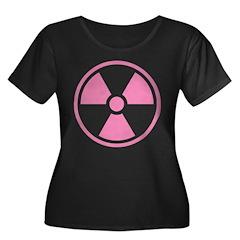 Pink Radioactive Symbol Plus Size T-Shirt