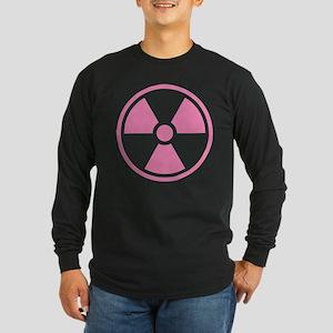 Pink Radioactive Symbol Long Sleeve T-Shirt
