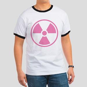 Pink Radioactive Symbol T-Shirt