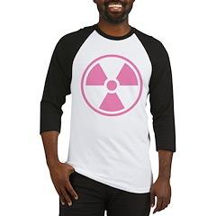Pink Radioactive Symbol Baseball Jersey
