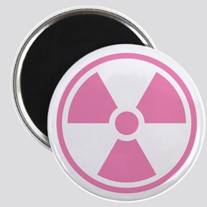 Pink Radioactive Symbol Magnets