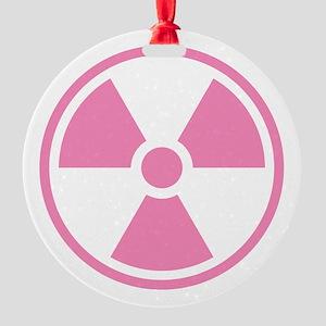 Pink Radioactive Symbol Ornament