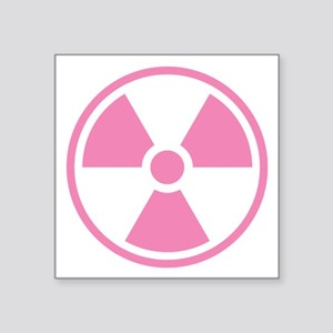 Pink Radioactive Symbol Sticker