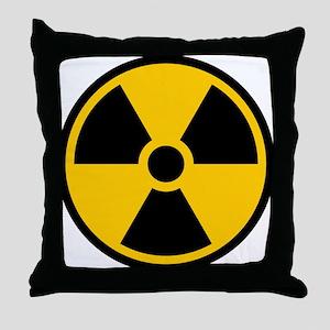 Radioactive Symbol Throw Pillow