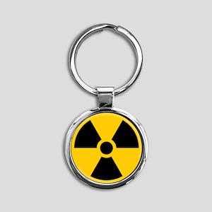 Radioactive Symbol Keychains