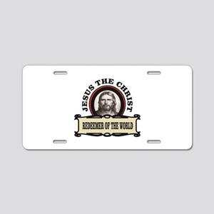 round redeemer jc Aluminum License Plate