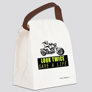 LOOK TWICE SAVE A LIFE Canvas Lunch Bag