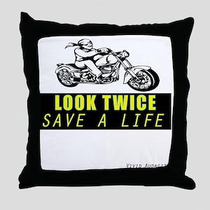LOOK TWICE SAVE A LIFE Throw Pillow
