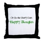 """""""Happy Thoughts"""" Throw Pillow"""