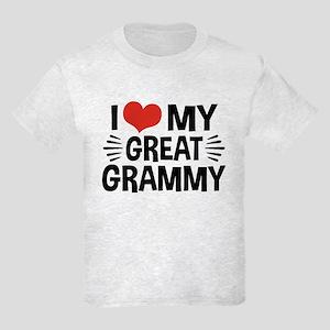 I Love My Great Grammy Kids Light T-Shirt