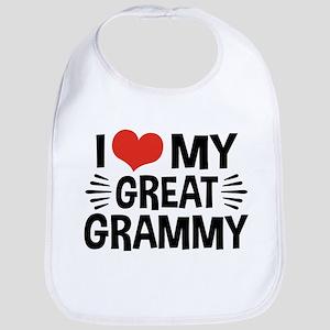 I Love My Great Grammy Bib
