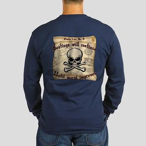 Pirates Law #8 Long Sleeve Dark T-Shirt